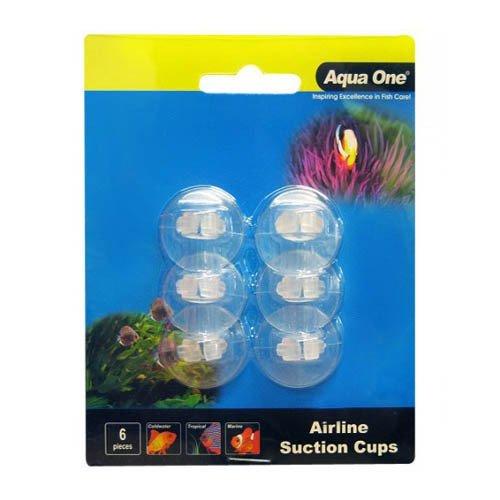 Aqua One Air Line Suction Cups 6pk