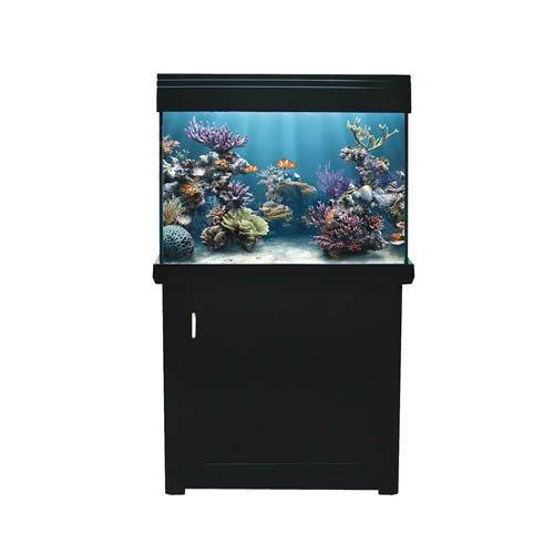 Aqua One AquaReef 195 Marine Set 195L 70lx52dx78 78cm H Black