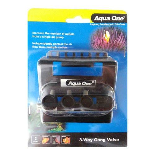 Aqua One Gang Valve 3 Way Outlet