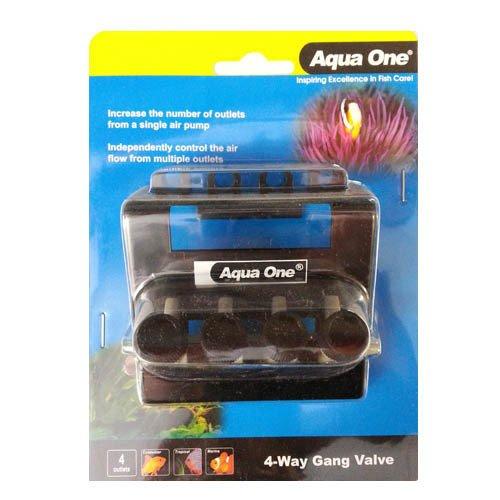 Aqua One Gang Valve 4 Way Outlet