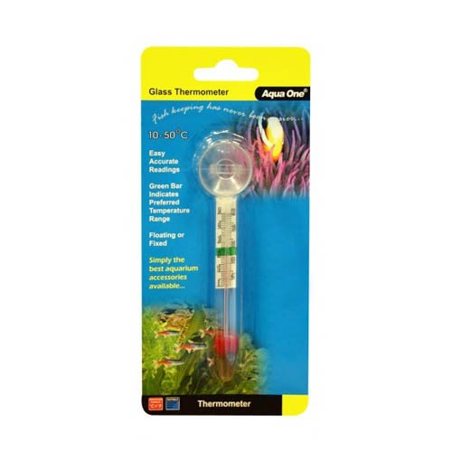 Aqua One Glass Thermometer