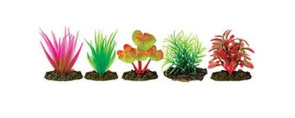 Aqua One Plastic Plant 6cm Assorted Fern 6/pk
