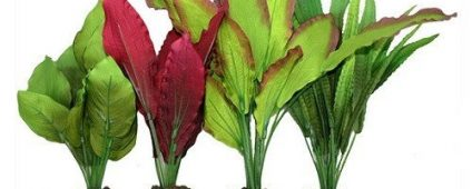 Aqua One Silk Plant 4pk Mix 2