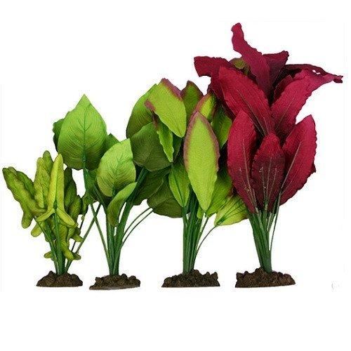 Aqua One Silk Plant 4pk Mix 4