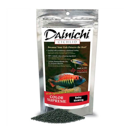 Dainichi Cichlid Colour Supreme Sinking Baby Pellet 100g 1mm