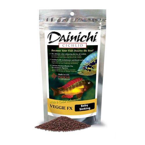 Dainichi Cichlid Veggie FX Sinking Baby Pellet 100g 1mm