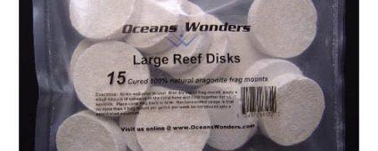 Ocean Wonders Frag Discs Aragonite Large 15pcs