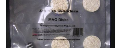 Ocean Wonders Frag Discs Aragonite Magnetic 4pcs