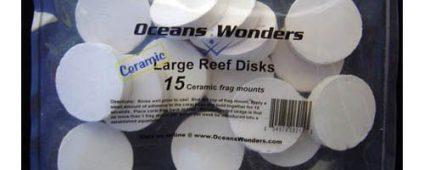 Ocean Wonders Frag Discs Ceramic Large 15pcs