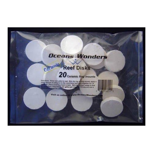 Ocean Wonders Frag Discs Ceramic Small 20pcs