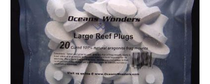 Ocean Wonders Frag Plugs Aragonite Large 20pcs