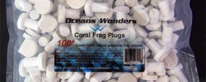 Ocean Wonders Frag Plugs Aragonite Small 100pcs