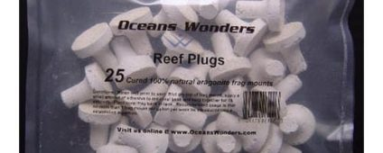 Ocean Wonders Frag Plugs Aragonite Small 25pcs