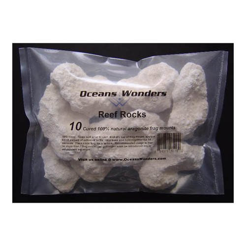 Ocean Wonders Frag Rocks Aragonite 10pcs